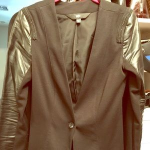 Mossimo blazer with faux leather sleeves size XS.